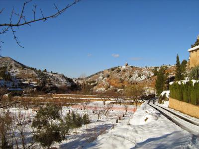 clima, Beceite, nieve, frío, nevada, está nevando, Beseit, neu, tosquera, camino al parrizal, cova del aire