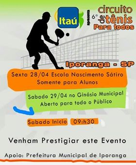 Circuito Tênis para Todos em Iporanga-SP