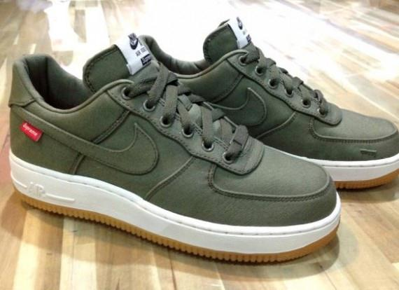 """e6de876db9a Only Happy Times  Supreme x Nike Air Force 1 Low """"Olive"""""""