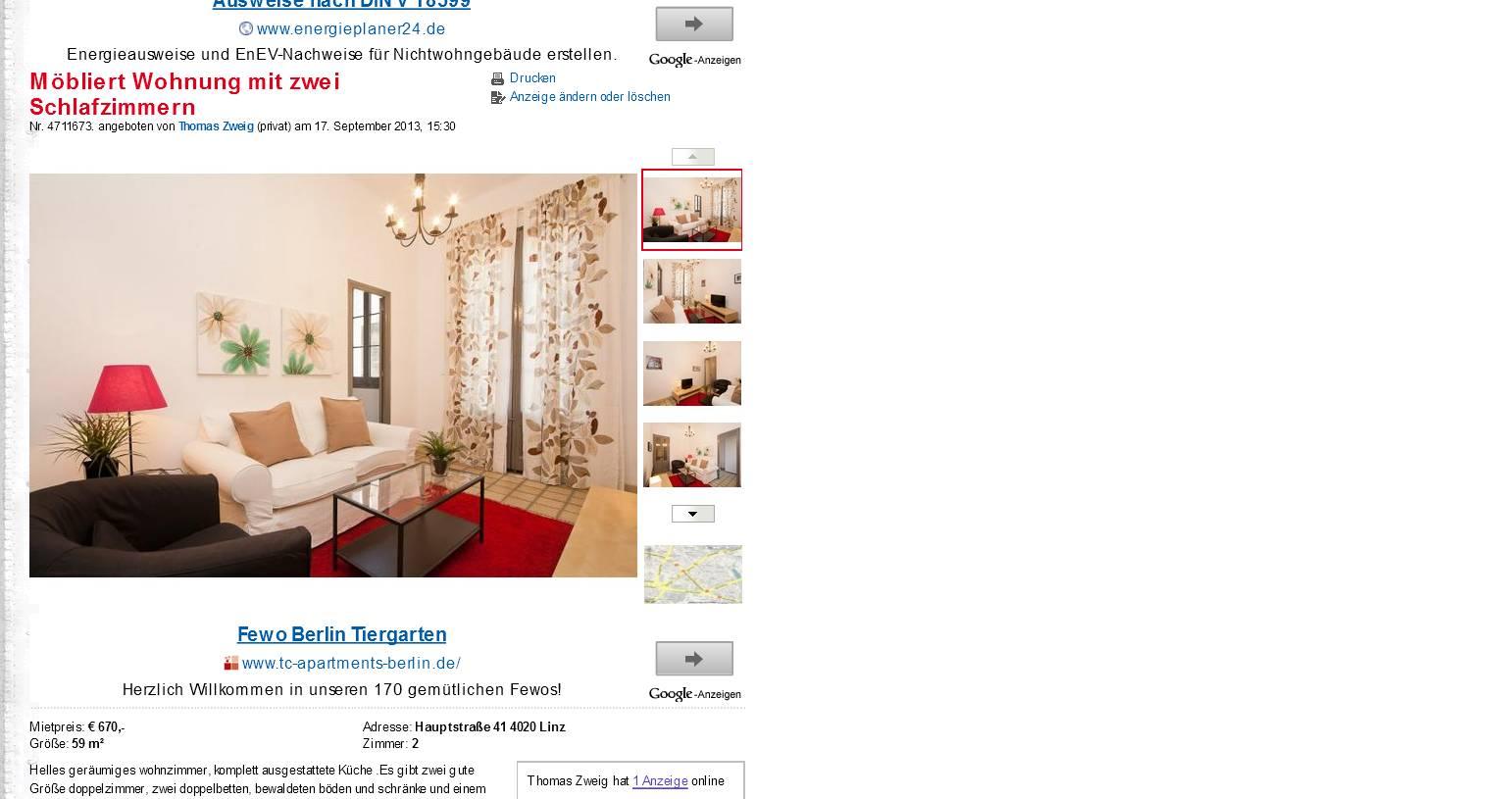 m bliert wohnung mit zwei. Black Bedroom Furniture Sets. Home Design Ideas