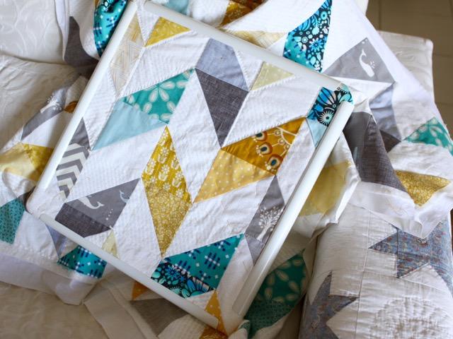 Herringbone baby quilt