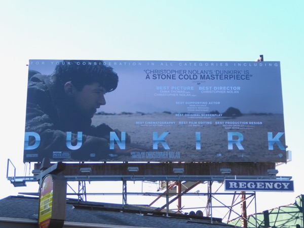Dunkirk movie FYC billboard