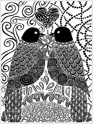 a couple of pigeon adult coloring pages printable