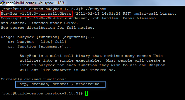 How to compile Busybox for ESXi … kind of Part 2
