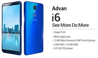 Review Gadget Smartphone Advan i6 + Harga Terupdate 2018