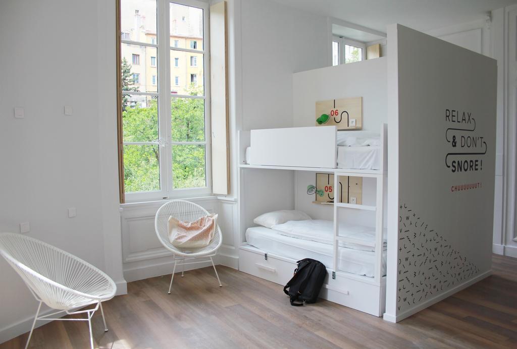 casa del caso design hostel away lione. Black Bedroom Furniture Sets. Home Design Ideas