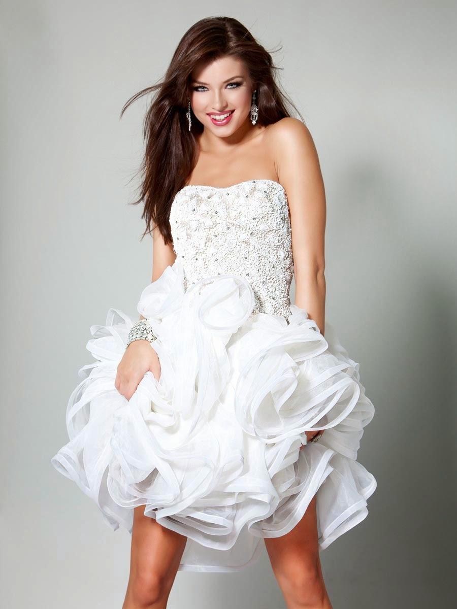 01149d19449c Vestidos Elegantes Cortos Juveniles 2014