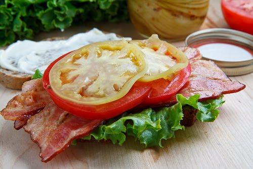 Pickled Green Tomato BLT