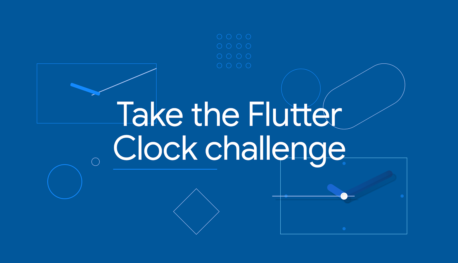 Take the Flutter Clock challenge banner