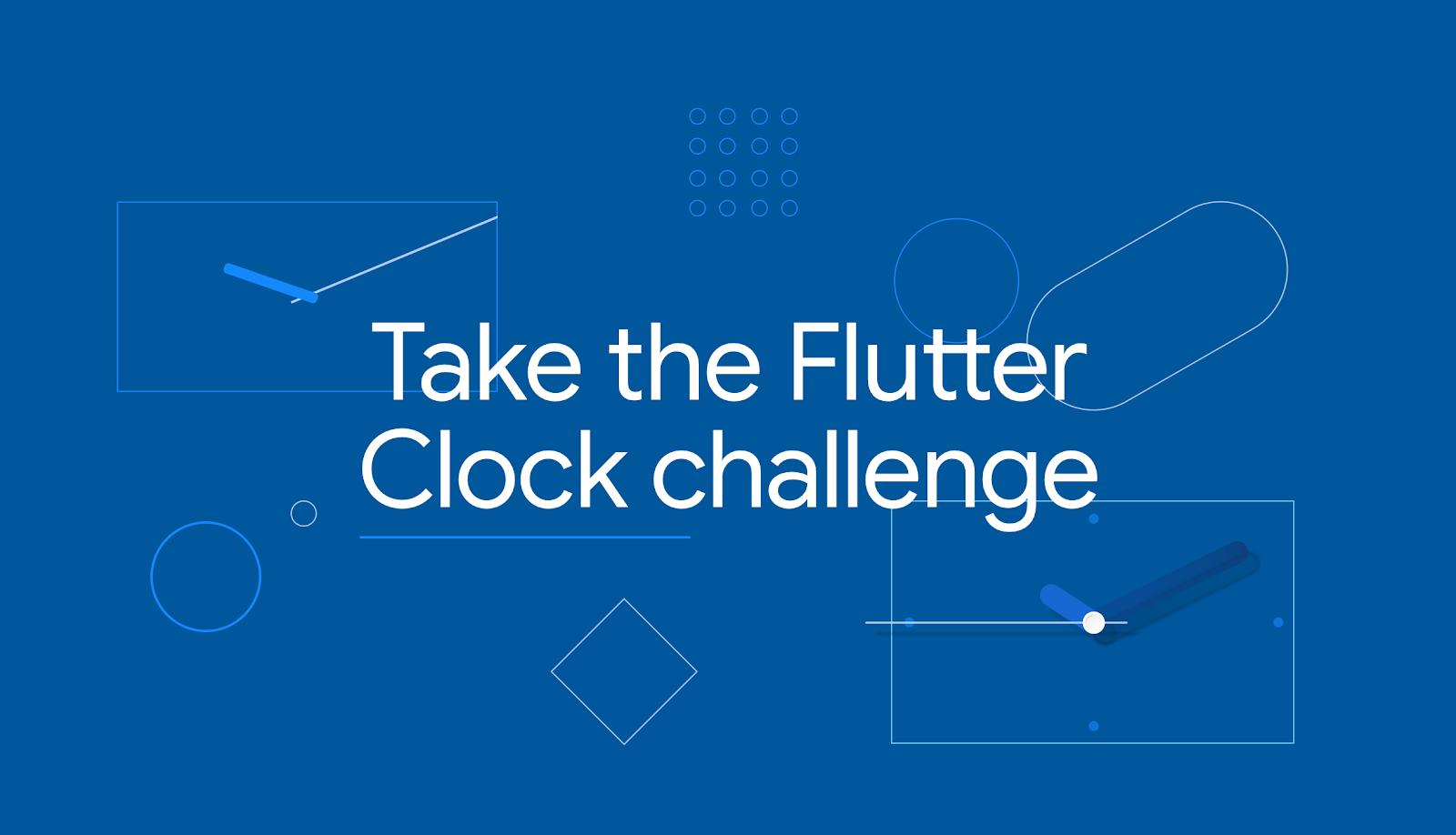 Take the Flutter Clock challenge banner