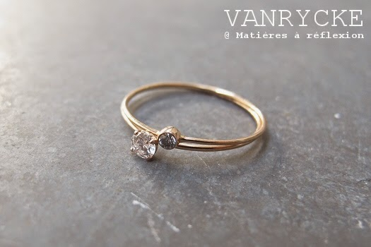 Bague solitaire Vanrcyke or rose