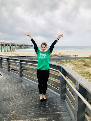 Another check off the bucket list in Panama City, Florida with my Iowa Academy of Nutrition and Dietetics shirt