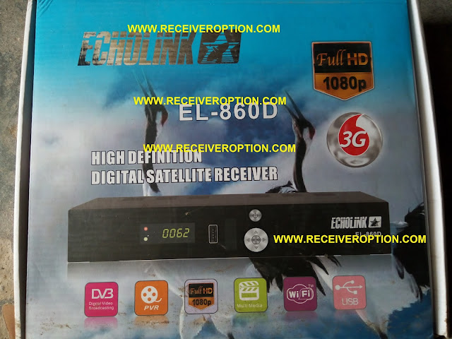 ECHOLINK EL-860D HD RECEIVER POWERVU KEY OPTION