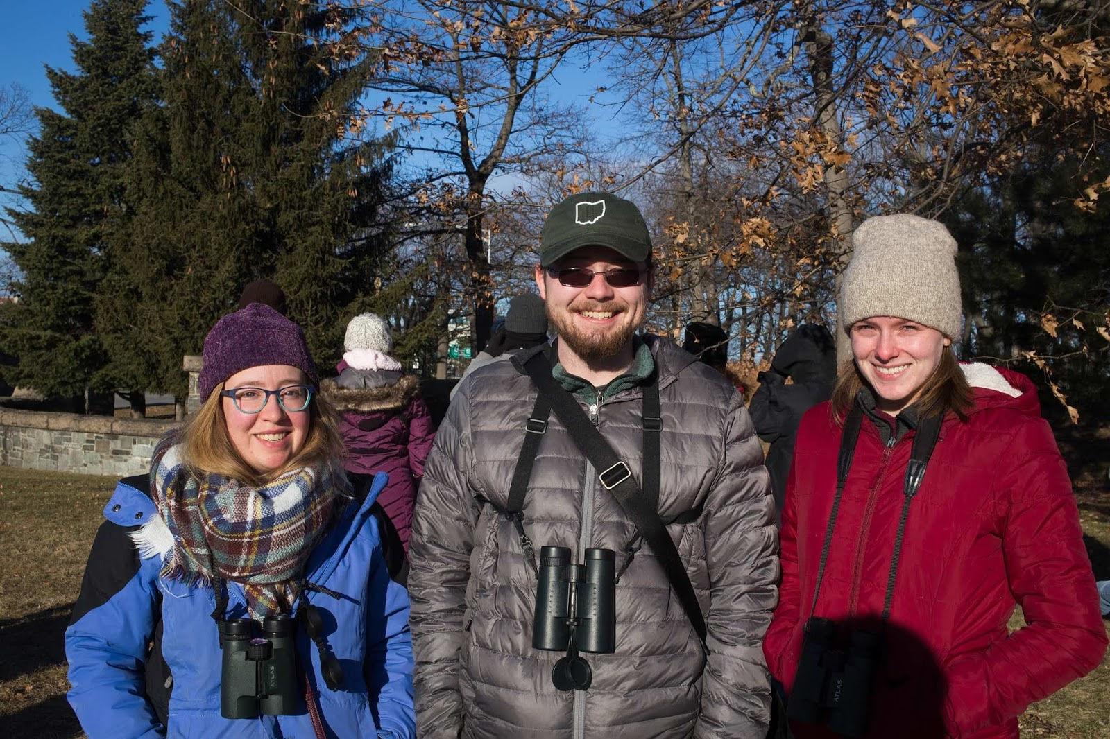 Leah Mould, Kyle Brooks, and Olivia Brooks Birding