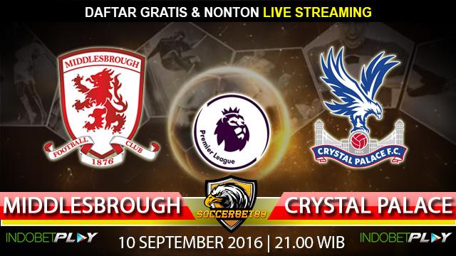 Prediksi Middlesbrough vs Crystal Palace 10 September 2016 (Liga Inggris)
