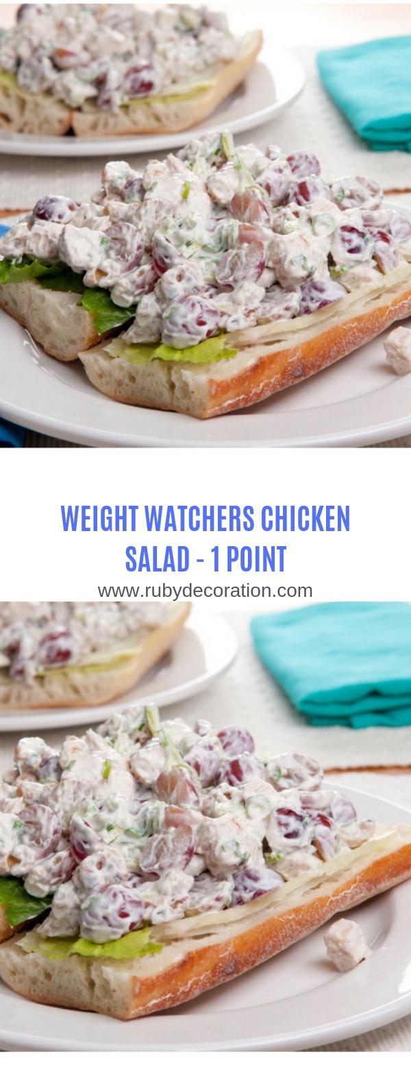 WEIGHT WATCHERS CHICKEN SALAD-1 POINT