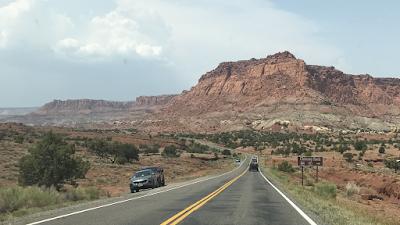 Driving through Capitol Reef National Park, Utah