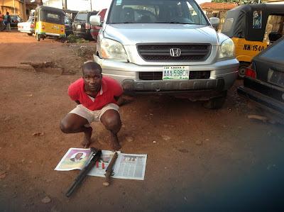 graduate arrested for snatching car enugu