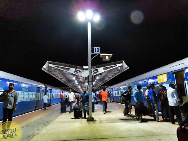 Madgaon Railway Station in the night