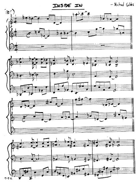 Partitura Violín Michael Gibbs