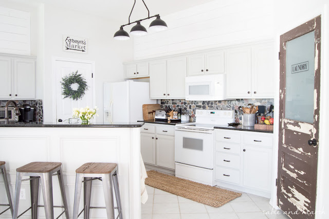 light gray cabinets white kitchen