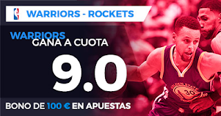 Paston Megacuota NBA: Golden State Warriors vs Houston Rockets 18 octubre