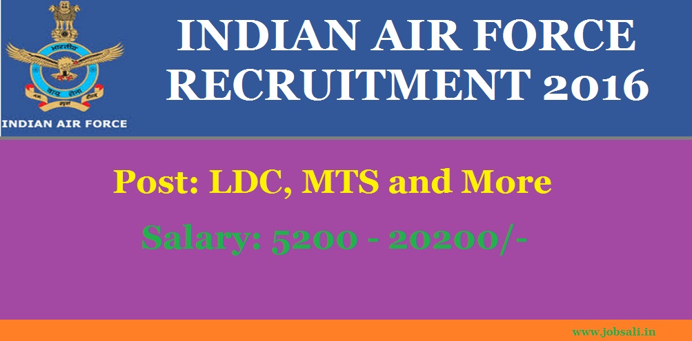 Indian Air Force Jobs, Indian Air Force Vacancy, Latest Government Jobs