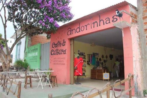 O espaço Andorinhas Café & Cultura fica na Rua Nathan Aguiar, ao lado do Restaurante Cheiro Verde, em Ibicoara (Foto: Divulgação)