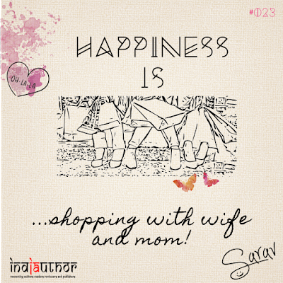 Happiness is shopping with wife and mom!