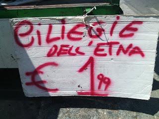 Cerejas do Etna - aqui tudo é melhor por causa do solo!