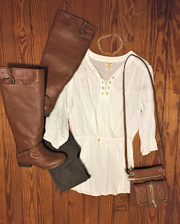 lace up tunic ootd