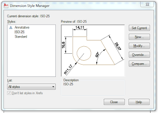 Autocad Annotation : Dimension