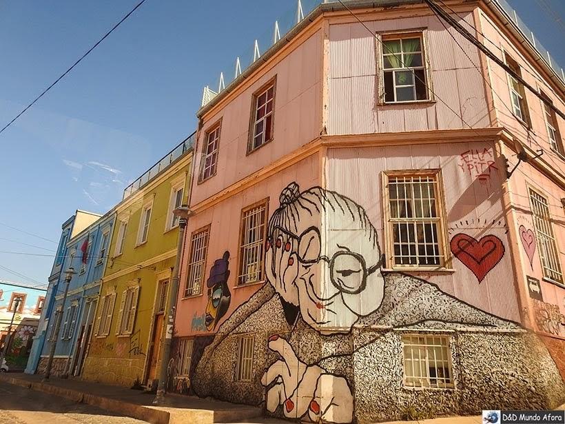 Grafite em Valparaíso - Diário de Bordo Chile: 8 dias em Santiago e arredores
