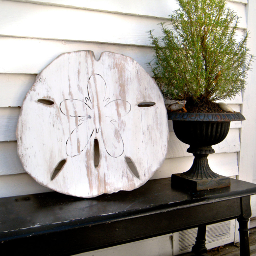 Large Wood Sand Dollar Wall Decor