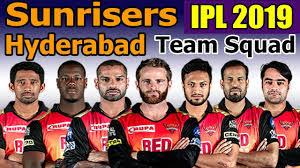 IPL 2019 SRH squad