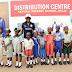 Mrs. Ambode distributes footwear to public school students