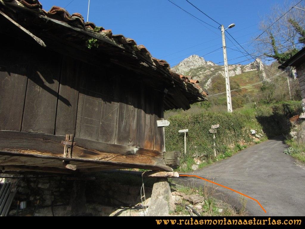 Ruta Baiña, Magarrón, Bustiello, Castiello. Hórreo