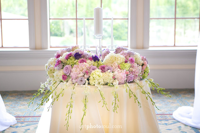 Unity Candle Table- Orlando - Real Wedding - Joie de Vie Wedding - Rosen Shingle Creek - Kirby - Purple - Atmospheres Floral