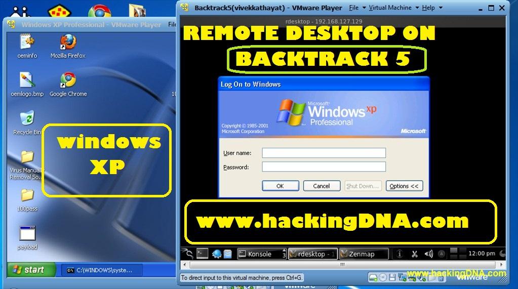 Remote Desktop On Backtrack 5 | HackingDNA