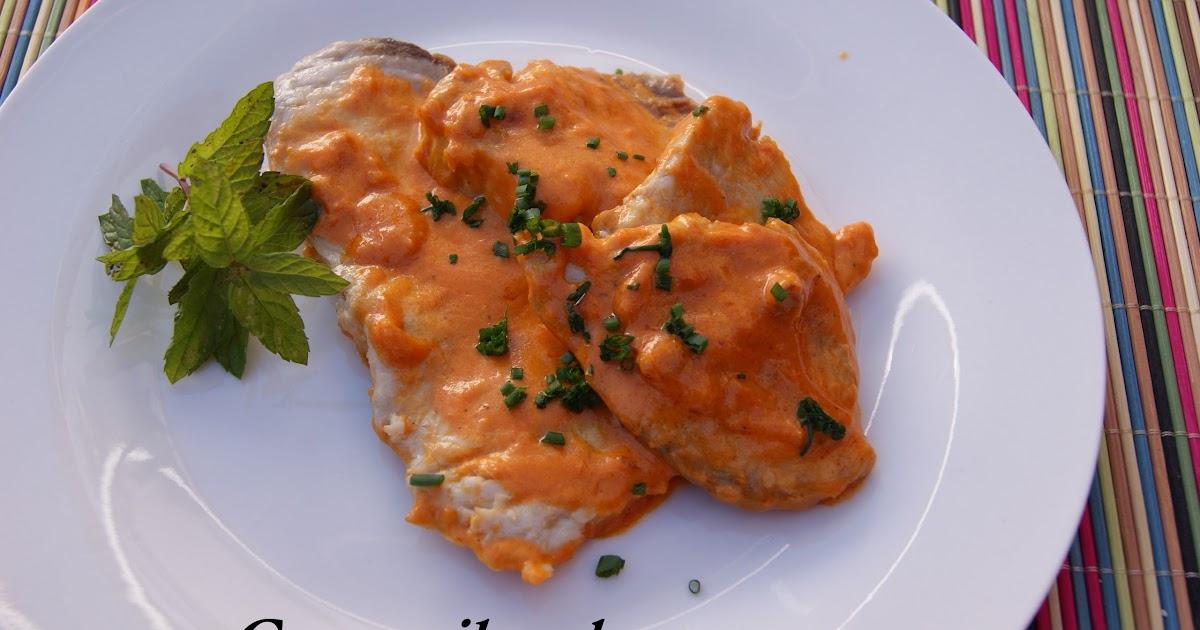 Con mil sabores pez espada con salsa de piquillos for Cocinar pez espada
