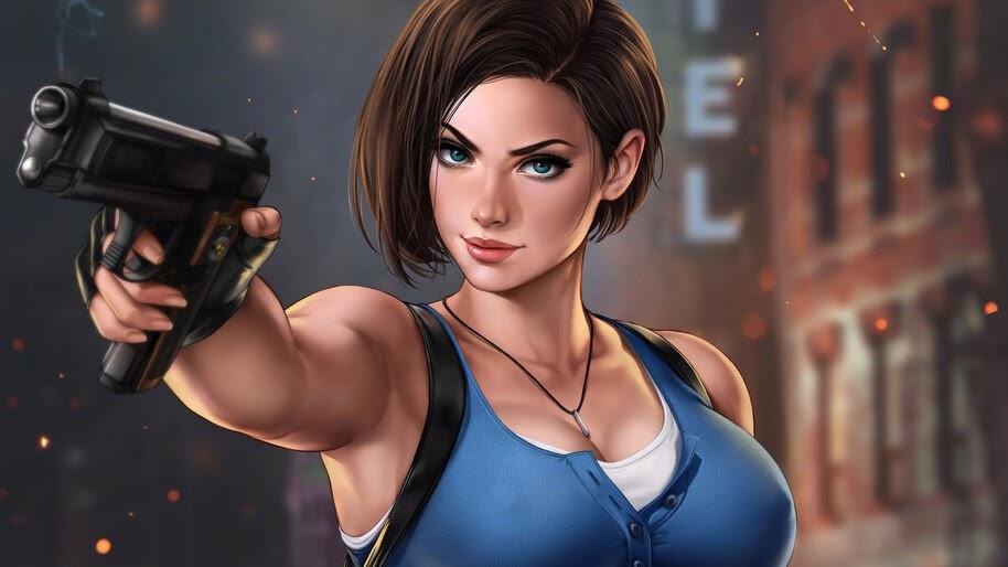 Jill Valentine, Art, Resident Evil 3, Remake, 4K, #3.2032