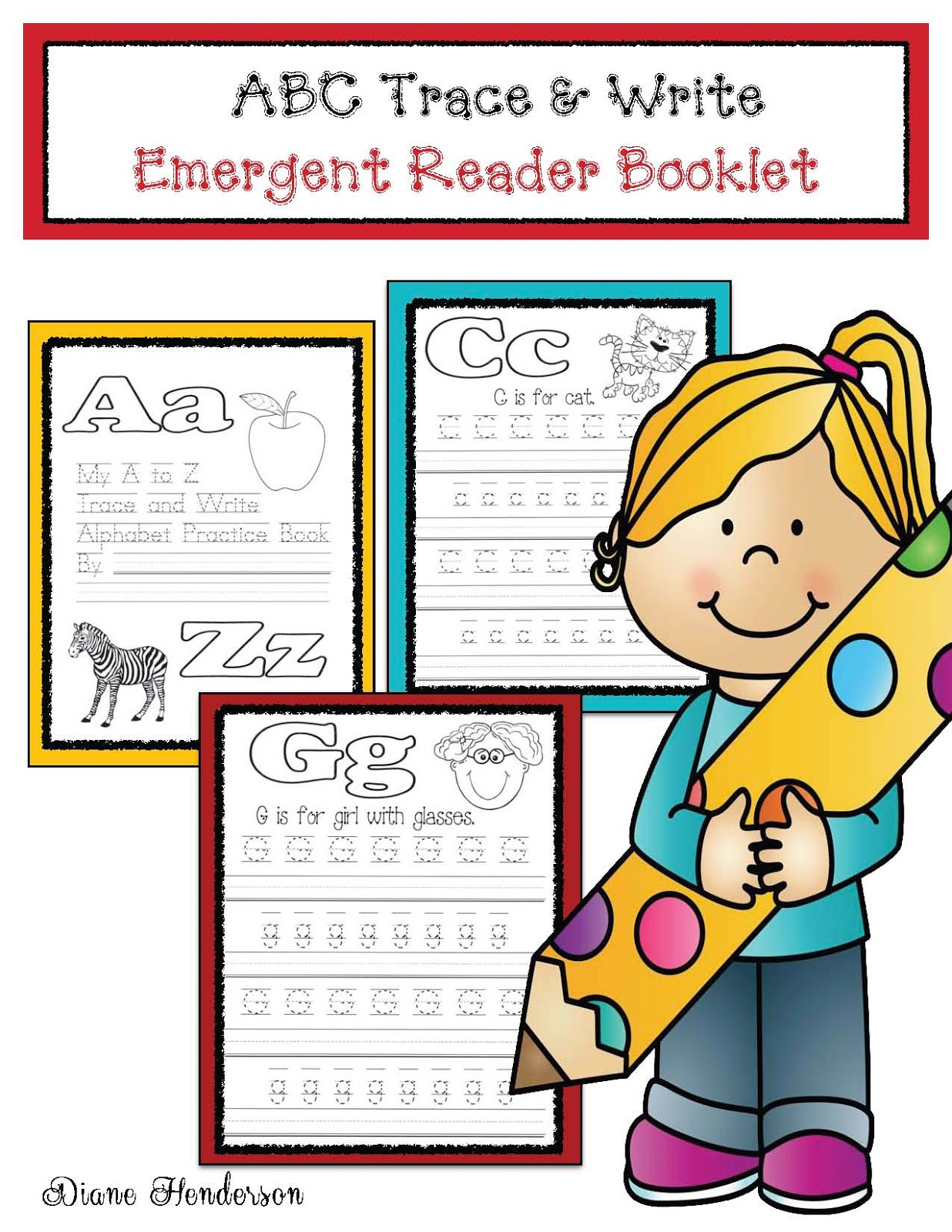 Classroom Freebies Abc Trace Amp Write Emergent Reader Booklet