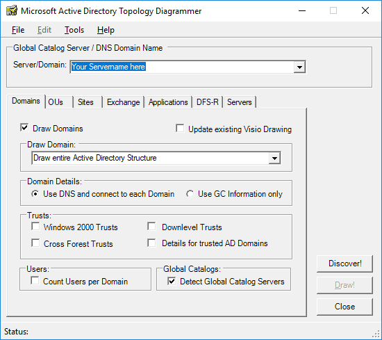 Microsoft Active Directory Topology Diagrammer Luyn