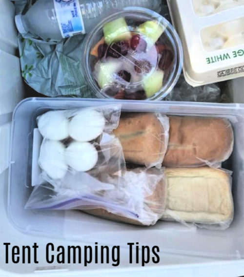 ice chest organization, camping food