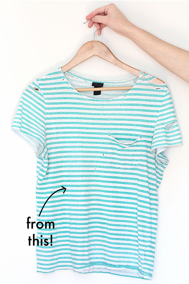 Use an old t-shirt to make a new one with this step-by-step tutorial