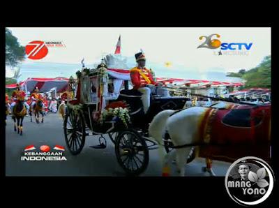Kereta Kencana Pembawa Bendera Pusaka di HUT RI Ke 71 Tahun 2016 Milik Kabupaten Purwakarta
