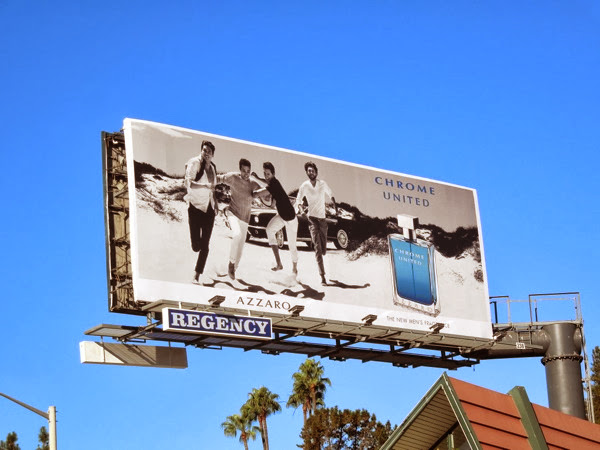 Azzaro Chrome United billboard ad