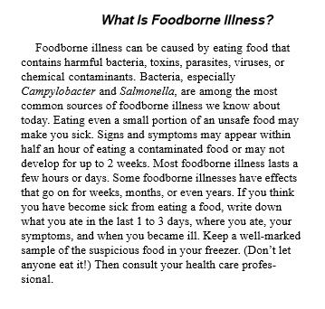 What Is Foodborne Illness?
