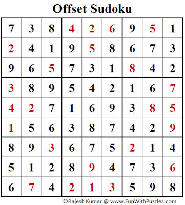 Answer of Offset Sudoku Puzzle (Fun With Sudoku #391)