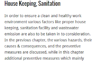 What is House Keeping, Sanitation & Waste water Emission?